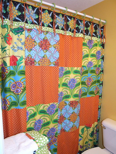 kids' patchwork shower curtain