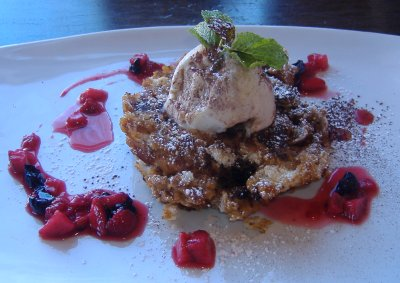 La Sirena Grill and Cantina - Chocolate Chip Bread Pudding