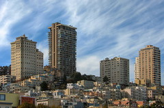 San Francisco (Mike G. K.) Tags: sanfrancisco california sky test mountain clouds buildings cityscape view skyscrapers hill slope mikegk:gettyimages=submitted