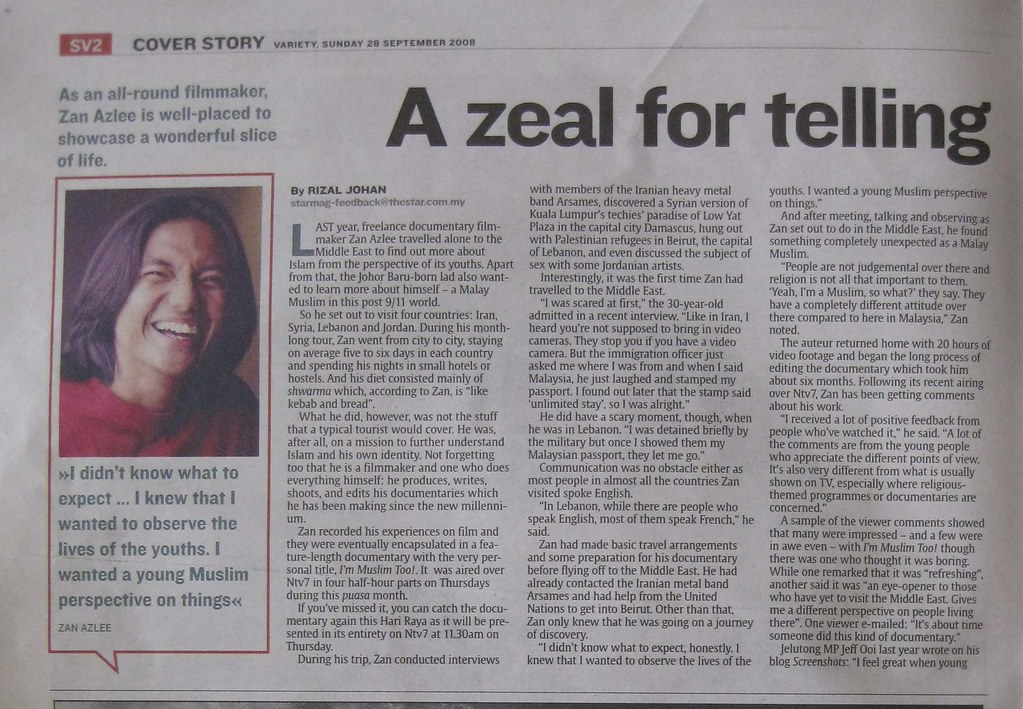 Im Muslim Too! in The Star - page 2 (28 Sept 08)