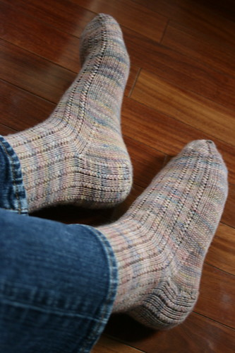 365-146 (lounging in handknit socks)