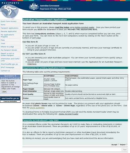 Passport Application Form Passport Application Form Australia