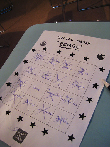 Buzzword Bingo Card - Social Media Camp London