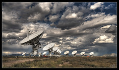 Contact (Dan.Heacock) Tags: road new trip sky panorama color dan weather rock radio landscape mexico nikon technology desert flat very large dramatic climbing telescope land contact hdr antenna socorro vla array d300 heacock danheacock thedan86