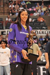 candace parker holding her award