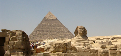 Spynx and pyramids 1