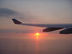 My Dream is to Fly (SaudiSoul) Tags: sunset cloud sun plane airplane