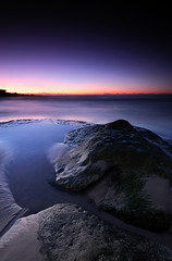 Maroubra beach (nico3d) Tags: ocean morning sea seascape beach rock sunrise landscape dawn moss nikon sydney australia maroubra nikond300