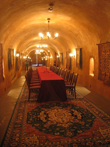Wine caves dining room