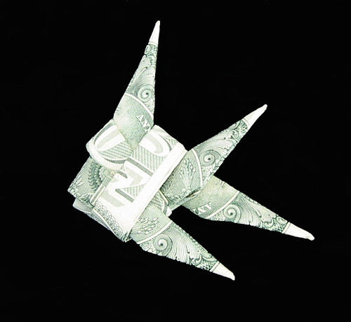 money origami fish
