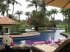 Hello Kitty at Swimming Pool of Saujana Hotel, Malaysia