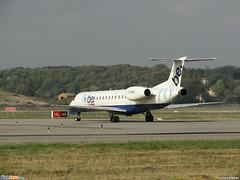 Embraer ERJ-145EU Flybe (BEE) G-EMBH - MSN 107 - Now in Athens Airways fleet as SX-CMA - Named Yannis Gaitis (Luccio.errera) Tags: athens bee msn airways fleet now 107 named embraer yannis flybe gembh gaitis erj145eu sxcma