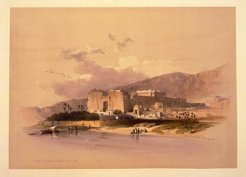 004- Templo de Kalabshe en Nubia- David Roberts- 1846-1849