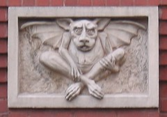 Creepy! (vlup2us65) Tags: newyork building strange architecture funny bat creepy gargoyle odd winged