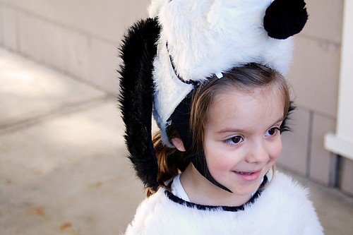 Lauren dressed as Snoopy for Halloween.