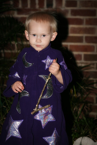 Nathan in his wizard costume