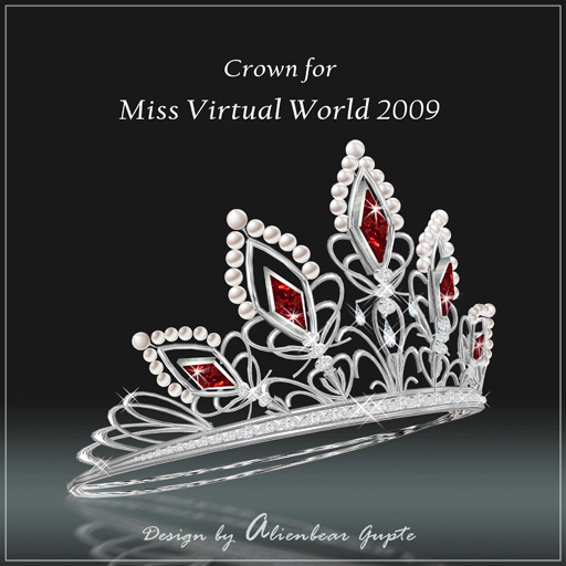 Miss Virtual World Crown side