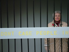 Just one of many voices (Help the Aged campaigns) Tags: people tour rosie cage rage help age older mp aged discrimination winterton doncaster ageism
