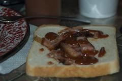 Mina's rib sandwhich