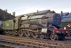County class no.1013 'County of Dorset'. Swindon shed. 26 April 1964 (ricsrailpics) Tags: uk colour steam 1964 1013 gwr 460 exgwr countyclass swindonshed 1000class 10xx