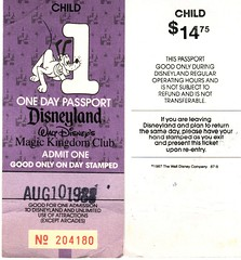 Disneyland Vintage Ticket 1988 (skittleydoo04) Tags: california birthday old trip travel family vacation goofy childhood vintage fun tickets amusement interesting disneyland memories 1988 roadtrip disney parade adventure entertainment disneyworld dreams mickeymouse amusementpark winniethepooh characters pluto 1983 tigger adventures minniemouse anaheim eeyore walt donaldduck rare admissions waltdisney amusementparks themeparks lifetime disneygeeks skittleydoo04 disneylandtickets disneyfreaks