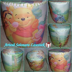 Puff de PET Turma do ursinho Pooh (Saionara Lascosck) Tags: reciclagem reciclado presentedenatal decoraodequartoinfantil puffdepet