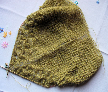 Seaweed Shawl progress