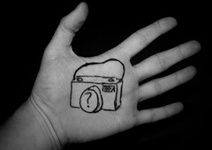how do I use this thing? (jonoakley) Tags: camera white black macro photo hand