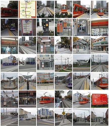 Seattle Streetcar Thumbnails