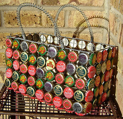 Bottle cap basket ~ 3 of 5 photos (Urban Woodswalker) Tags: africa texture colorful folkart pattern basket recycled craft surfacedesign zanzibar repurposed bottlecaps ecoart ingenious wirewrapped upcycled trashion urbanwoodswalker linteresting