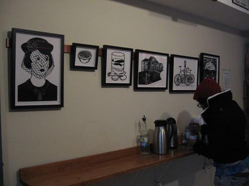 IMG_8824 Joe Boruchow installation at the Bean Cafe