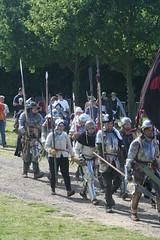 IMG_5348 (jgmdoran) Tags: canon flags archer reenactment 2007 militaryodyssey platemail lancastrians billhook arquebus waroftheroses highmedieval yorkists