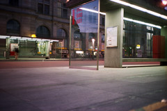 Numbers (Markus Moning) Tags: morning bus film station analog train 35mm photography lights schweiz switzerland suisse post swiss railway bahnhof olympus sbb daily stop commuting xa morgen lichter haltestelle moning winterthur pendler stadtbus pendlen markusmoning commutes