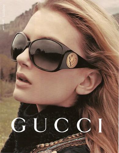 Lily Donaldson Gucci Campaign Poster