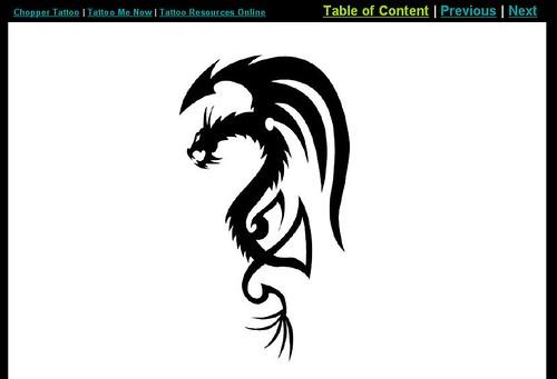 free tattoo designs - dragon tattoos