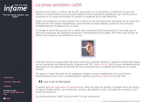 Revisión del cuarto theme de Sólo otro blog infame, con más rosa