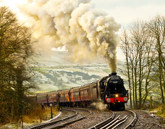 Cotton Mill Express at Chapel en route to Buxton (daveduke) Tags: mill train chapel steam cotton beercan express digitalcameraclub supershot theunforgettablepictures concordians tup2 cottonmillexpress rubyphotographer abovealltherest sonyalphadslra200 100commentgroup goldendiamondblog transportcompetitionmay2011
