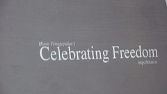 Hiran-celebrating freedom
