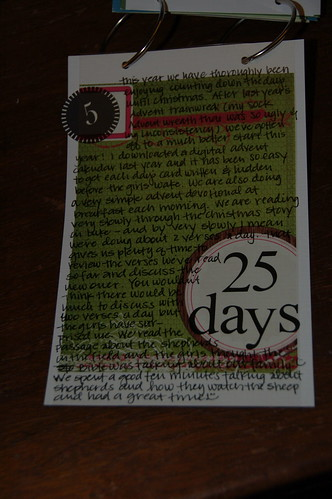 Journal Your Christmas ::: Day 5 (a)