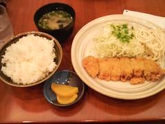 とんかつ定食400円@妙樹