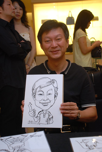 Caricature live sketching for Bulgari Christmas Brunch - 5