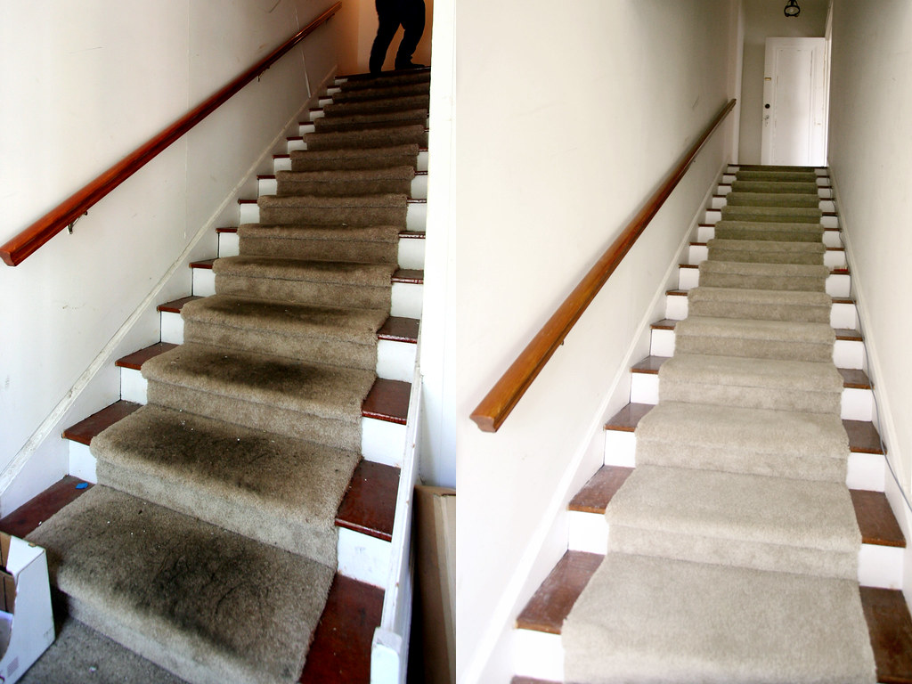 Stairs, Before and After-ish