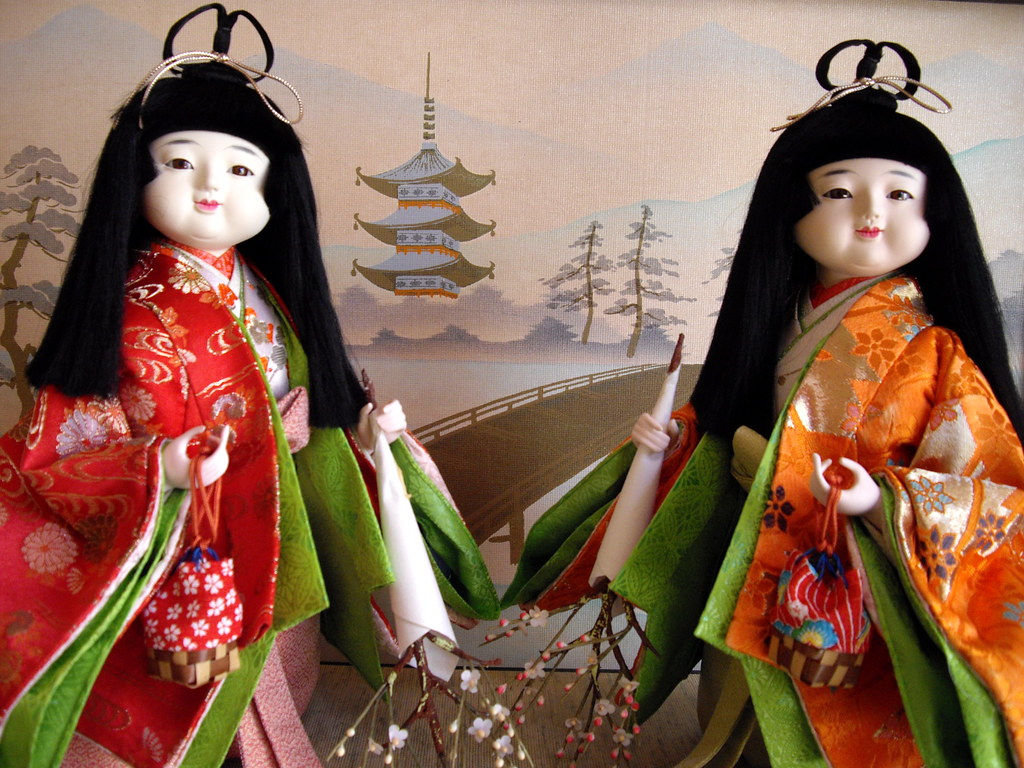 hina matsuri japanese dolls wallpaper