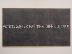 Blackboard 6 (Artists Suffer...)  2009 (foggodavid) Tags: money chalk poor blackboard foggodavid