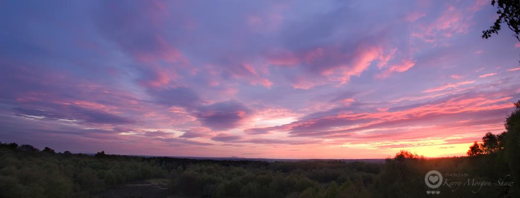 Panoramic sunset