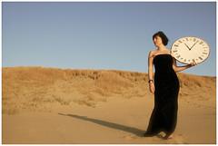 -Time Is on My Side- (www.hansvink.nl) Tags: sea woman clock beach girl strand is model sand shoot time dunes side hans zee duinen klok noordwijk vink tijd my flickraward