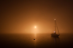 untitled (moucri) Tags: california water fog night boat estuary alameda portofoakland
