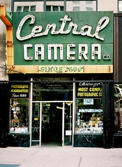 Central Camera Co. Chicago (ho_hokus) Tags: chicago sign shop photography store illinois neon cameras chinon chinonbellami centralcamera storfront filmphotographypodcast chicago2011june