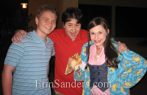 On Set Zoey 101with Erin Sanders