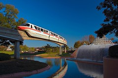 Disney - Monorail Coral Future World (Explored) (Express Monorail) Tags: usa reflection fountain colors geotagged waterfall orlando epcot colorful florida january disney explore disneyworld blueskies monorail nikkor wdw waltdisneyworld walt 2008 hdr highdynamicrange themepark prettysky waltdisney lucisart futureworld 18135mm epcotfutureworld upsidedownwaterfall disneyparks nikond40 dynamicphotohdr paintshopprophotox2 monorailcoral geo:lat=28373013 geo:lon=81550221